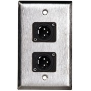 PLACA NEUTRIK 4X2 1-GANG STAINLESS STEEL 2X NC3MD-L-1-B