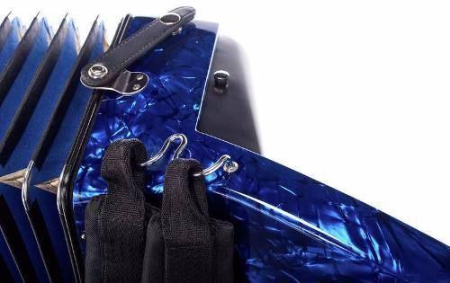 ACORDEON CROMÁTICO HOHNER BRAVO III 120 BAIXOS BLUE