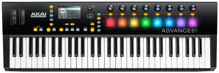 TECLADO CONTROLADOR MIDI AKAI ADVANCE 61