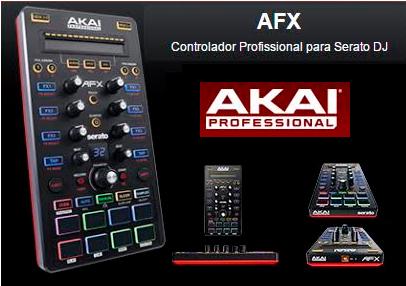 CONTROLADOR P/DJ AKAI AFX