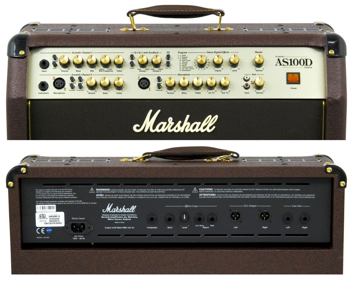 AMPLIFICADOR COMBO P/VIOLÃO MARSHALL AS100D