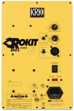 AMP/POWER SUPPLY KRK AMPK00051 (RP6 G2CB/YELLOW)