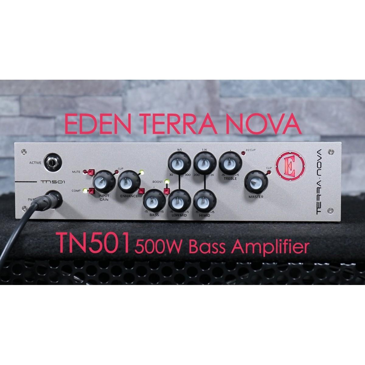 AMPLIFICADOR HEAD P/BAIXO EDEN TN501 TERRA NOVA