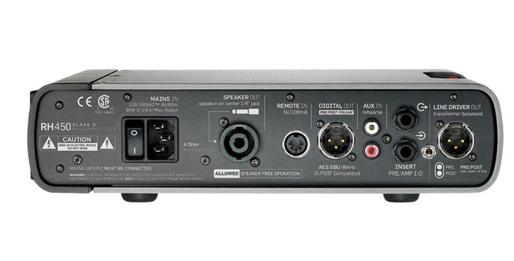 AMPLIFICADOR HEAD P/BAIXO TC ELECTRONIC RH450 REBEL HEAD