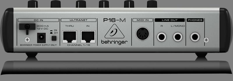 AMPLIFICADOR P/HEADPHONES BEHRINGER P16 SYSTEM