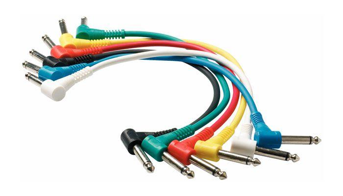 CABO GUITAR PATCH P10 MONO (TS) ANGULADO DUAL KIT 6 UNIDADES WARWICK ROCKCABLE RCL30011 D5