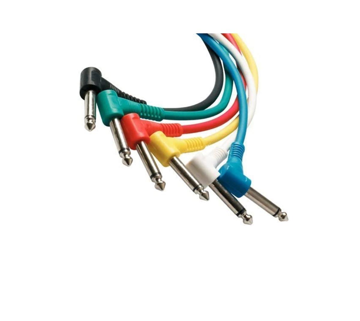 CABO GUITAR PATCH P10 MONO TS ANGULADO DUAL KIT 6 UNIDADES WARWICK ROCKCABLE RCL30011 D5