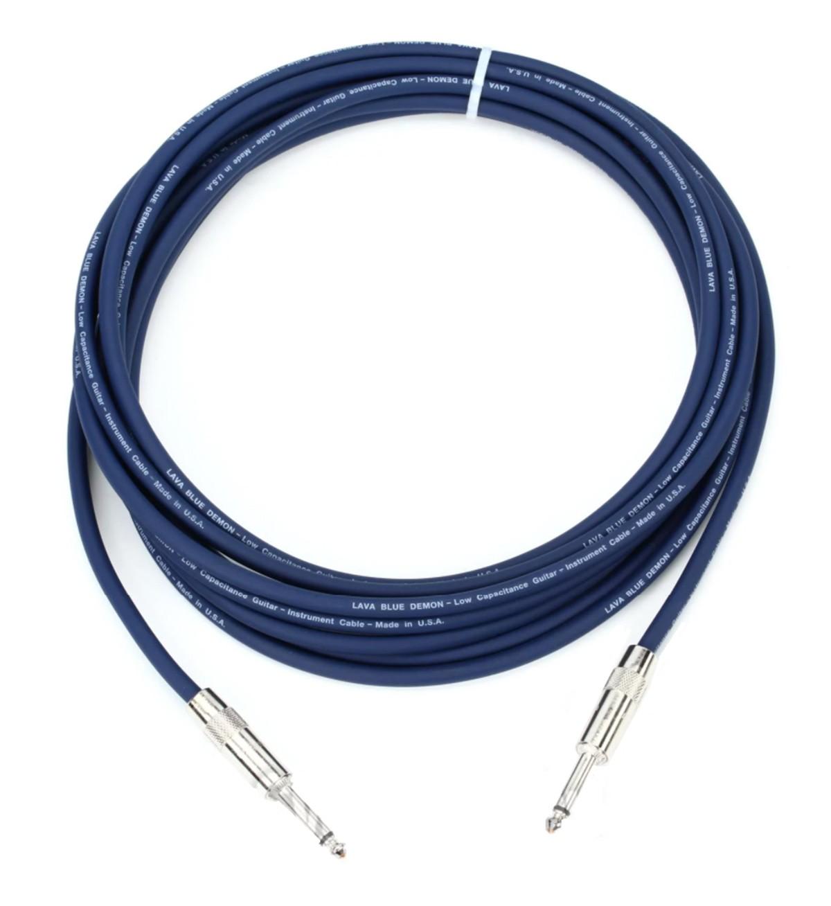 CABO P/INSTRUMENTOS P10 MONO (TS) 6M LAVA CABLE BLUE DEMON LCBD20