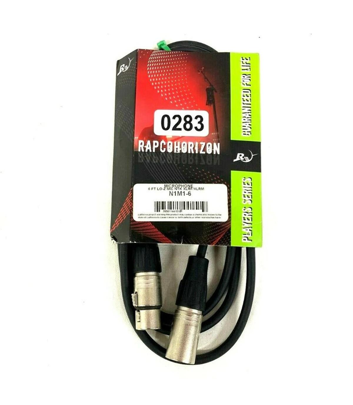 CABO P/MICROFONE XLR 6M RAPCOHORIZON N1M1-20