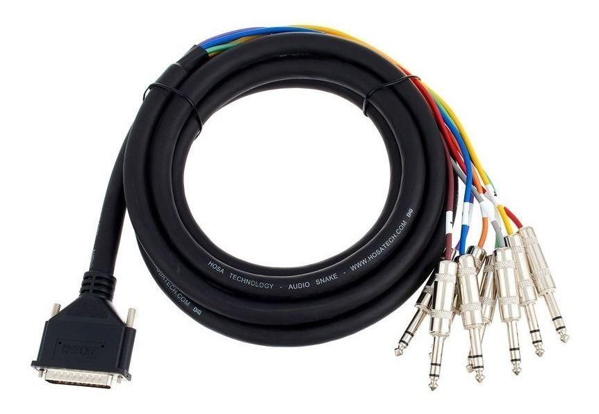 CABO SNAKE DB25 X 8X P10 ESTÉREO (TRS) 2M HOSA TECHNOLOGY DTP-802
