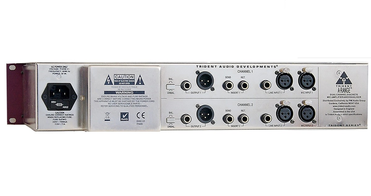 CHANNEL STRIP PRAMP P/MICROFONES E EQ TRIDENT AUDIO A-RANGE