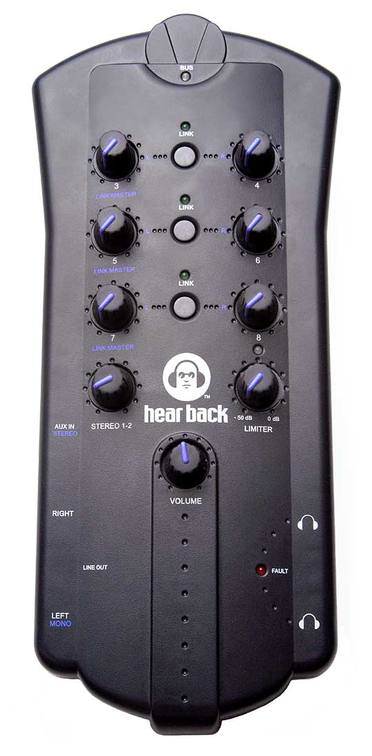 CONTROLE REMOTO HEAR TECHNOLOGIES HEAR BACK MIXER