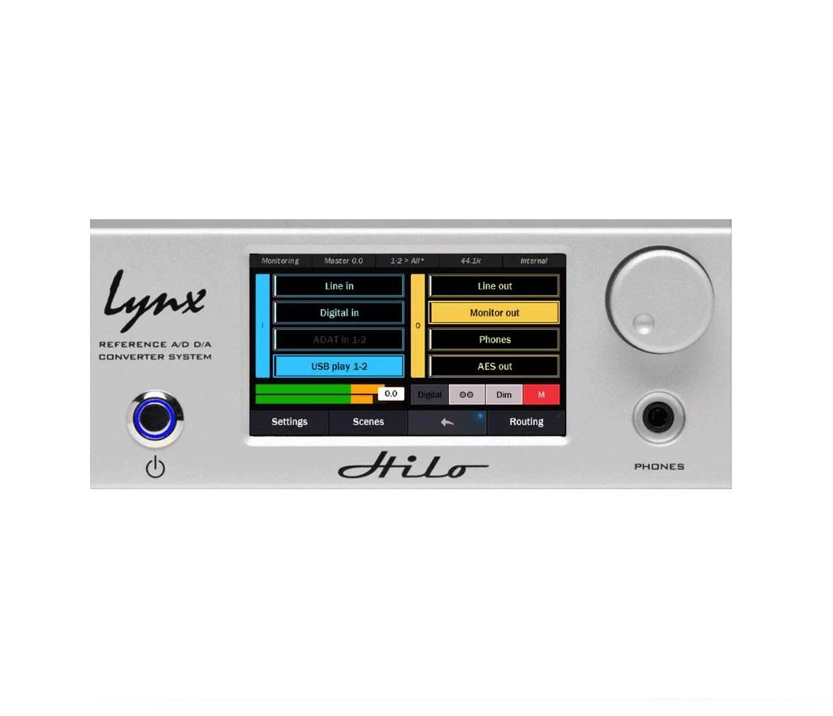 CONVERSOR AD/DA LYNX STUDIO TECHNOLOGY HILO REFERENCE THUNDERBOLT SILVER