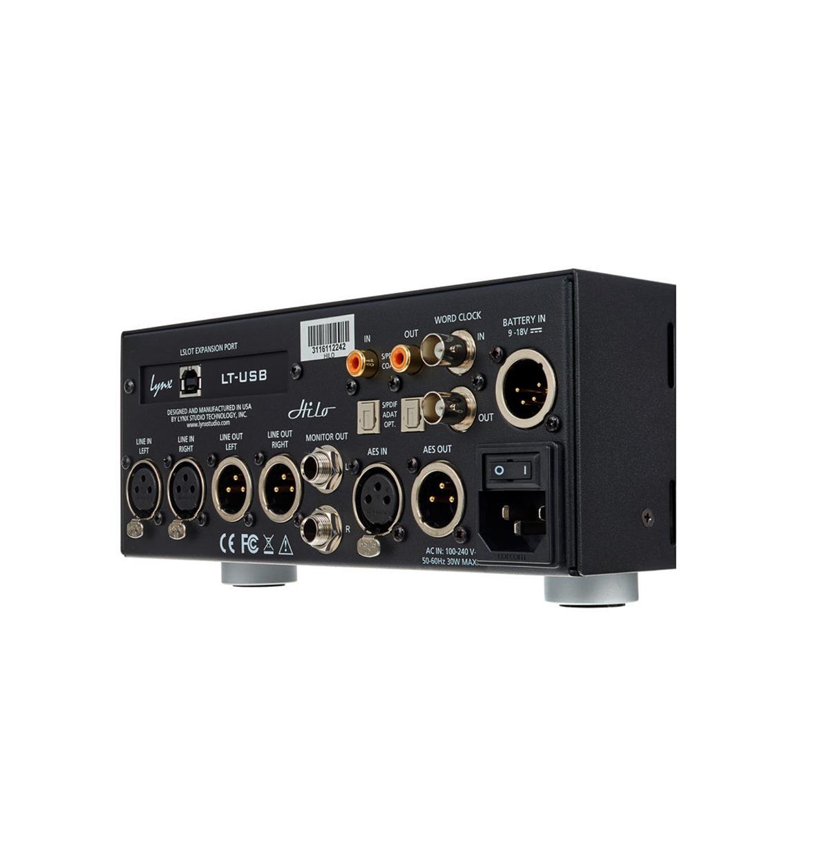 CONVERSOR AD/DA LYNX STUDIO TECHNOLOGY HILO REFERENCE USB BLACK