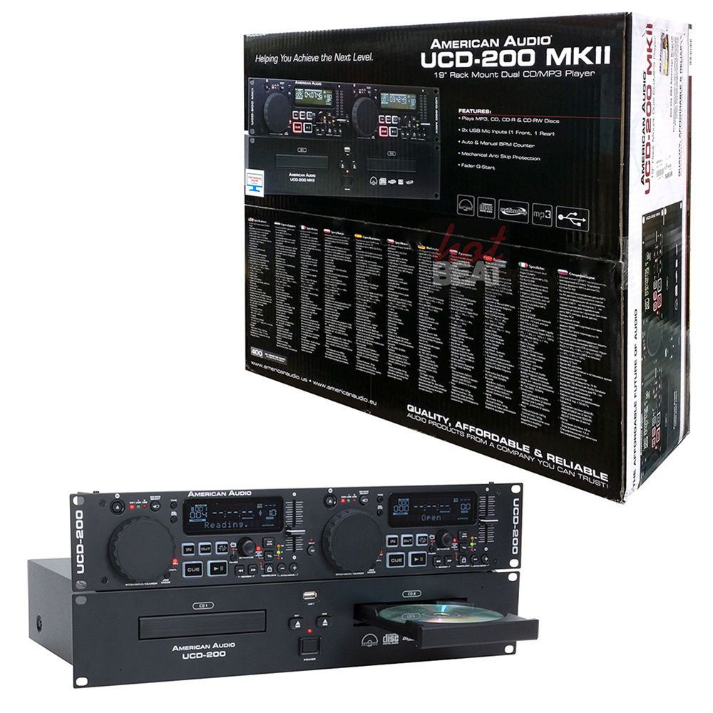 DUAL CD/USB PLAYER AMERICAN DJ UCD-200 MKII