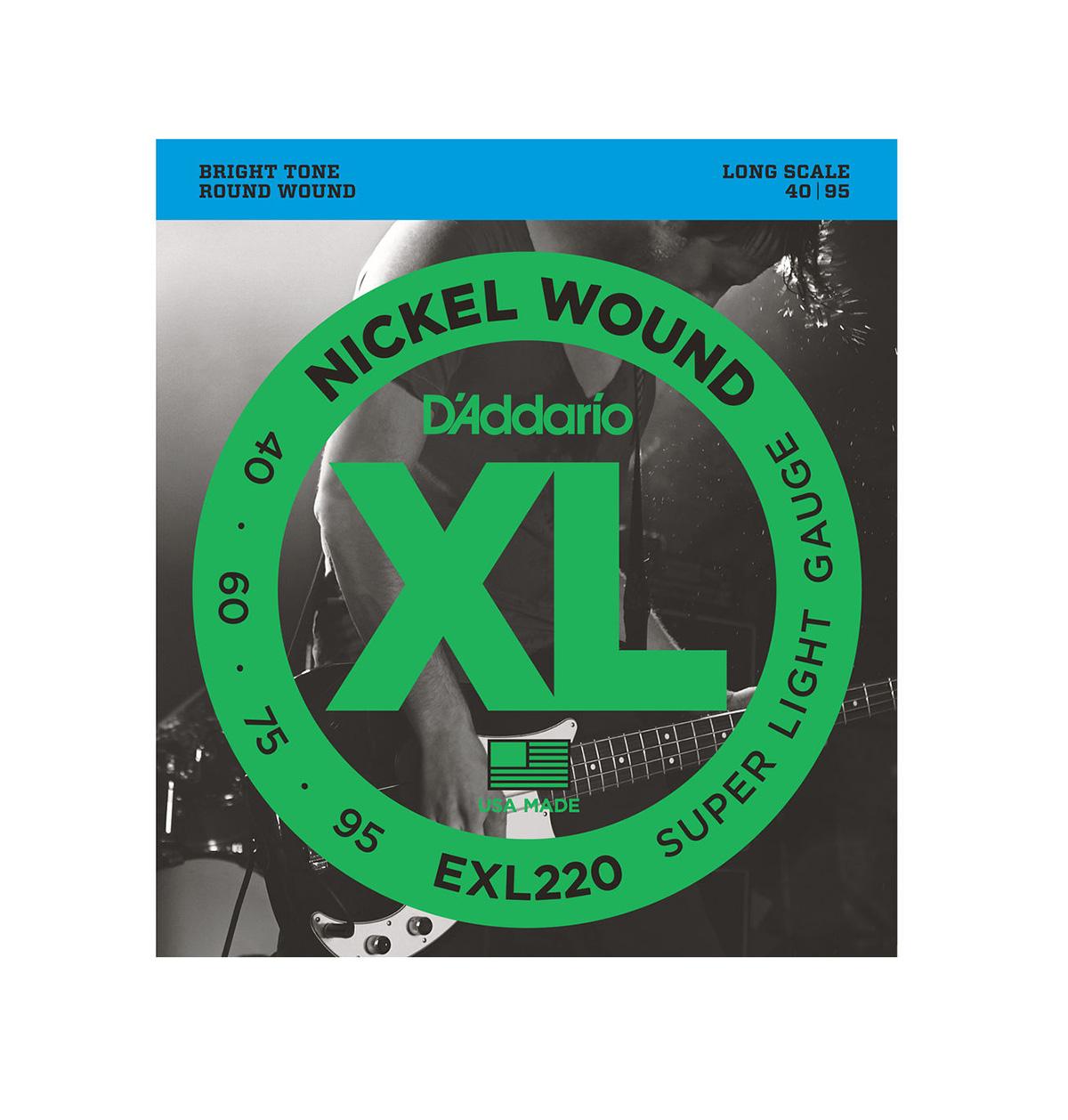 ENCORDOAMENTO P/BAIXO 4 CORDAS 0.40 D'ADDARIO EXL220