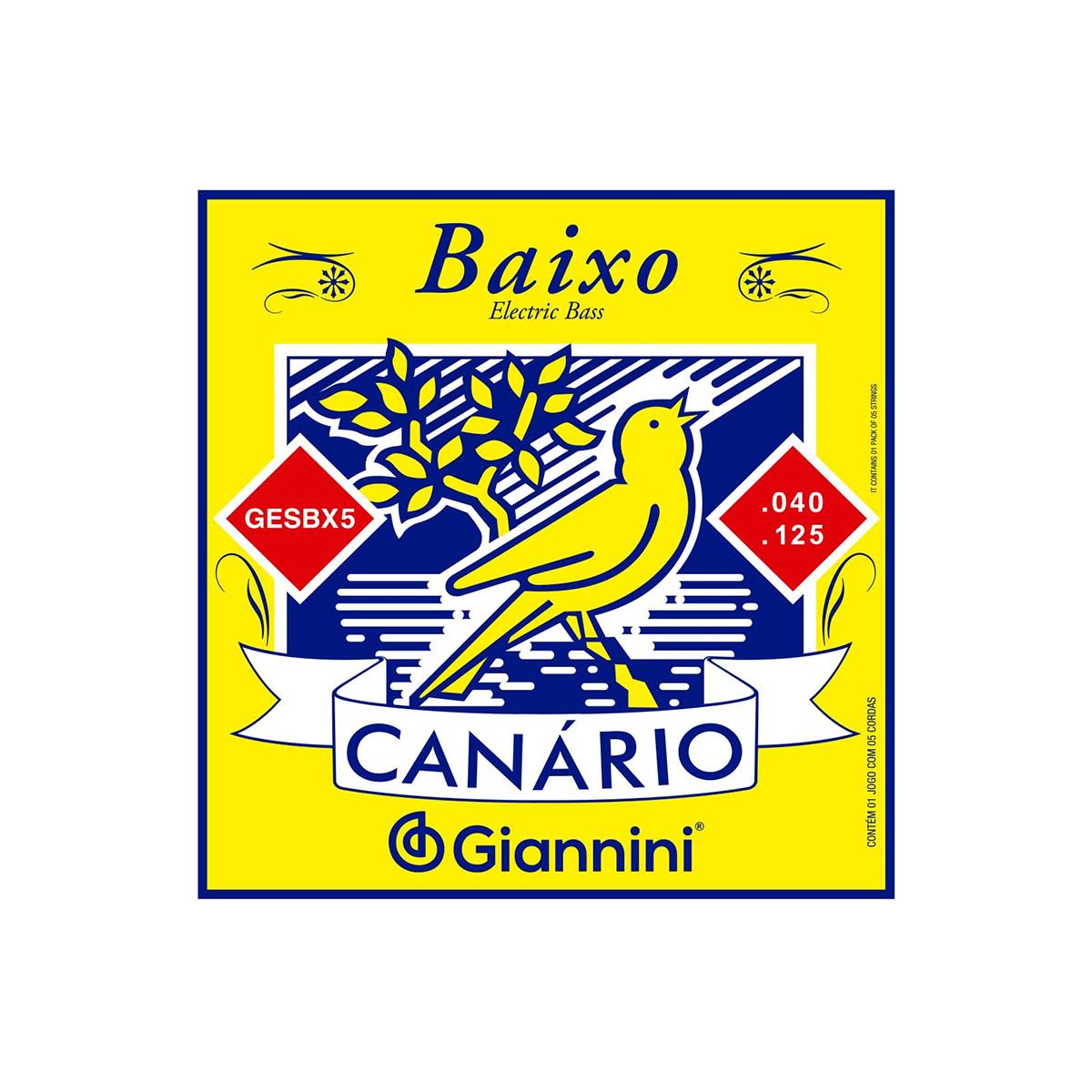 ENCORDOAMENTO P/BAIXO 5 CORDAS 0.40 GIANNINI CANÁRIO GESBX5