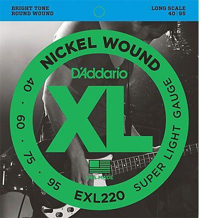 ENCORDOAMENTO P/BAIXO D'ADDARIO EXL220
