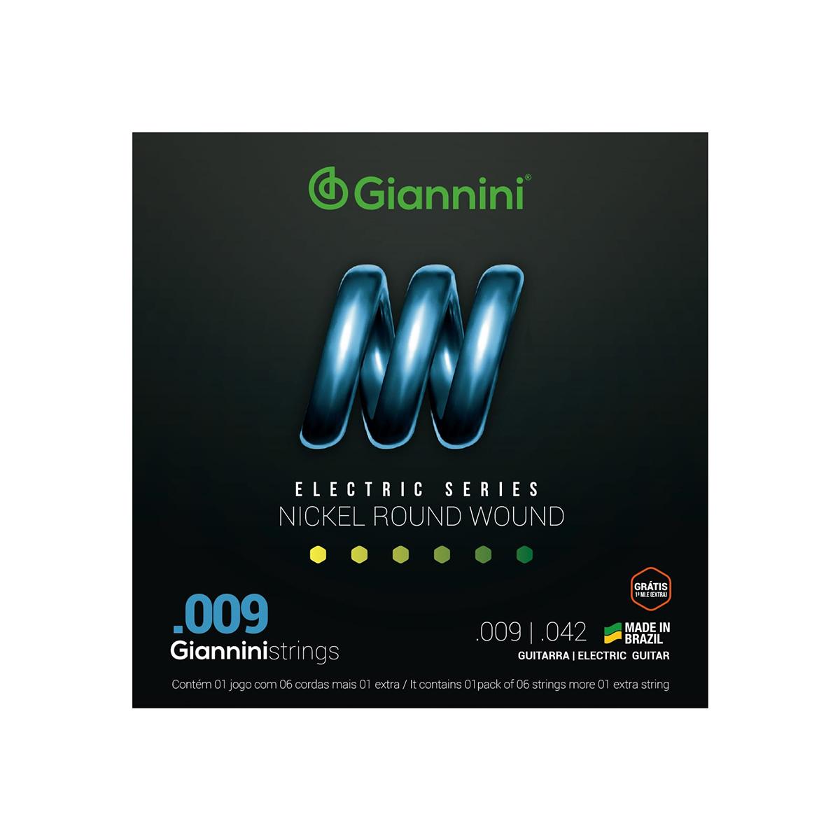 ENCORDOAMENTO P/GUITARRA 0.09 GIANNINI ELECTRIC GEESGT9