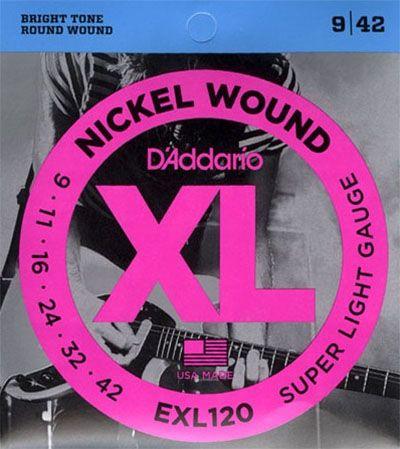 ENCORDOAMENTO P/GUITARRA D'ADDARIO EXL120