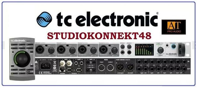 INTERFACE DE ÁUDIO FIREWIRE TC ELECTRONIC STUDIO KONNEKT 48 / REMOTE CONTROL
