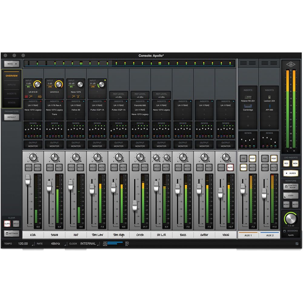 INTERFACE DE ÁUDIO THUNDERBOLT UNIVERSAL AUDIO APOLLO 8 QUAD