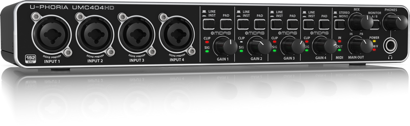 INTERFACE DE ÁUDIO USB BEHRINGER U-PHORIA UMC404HD