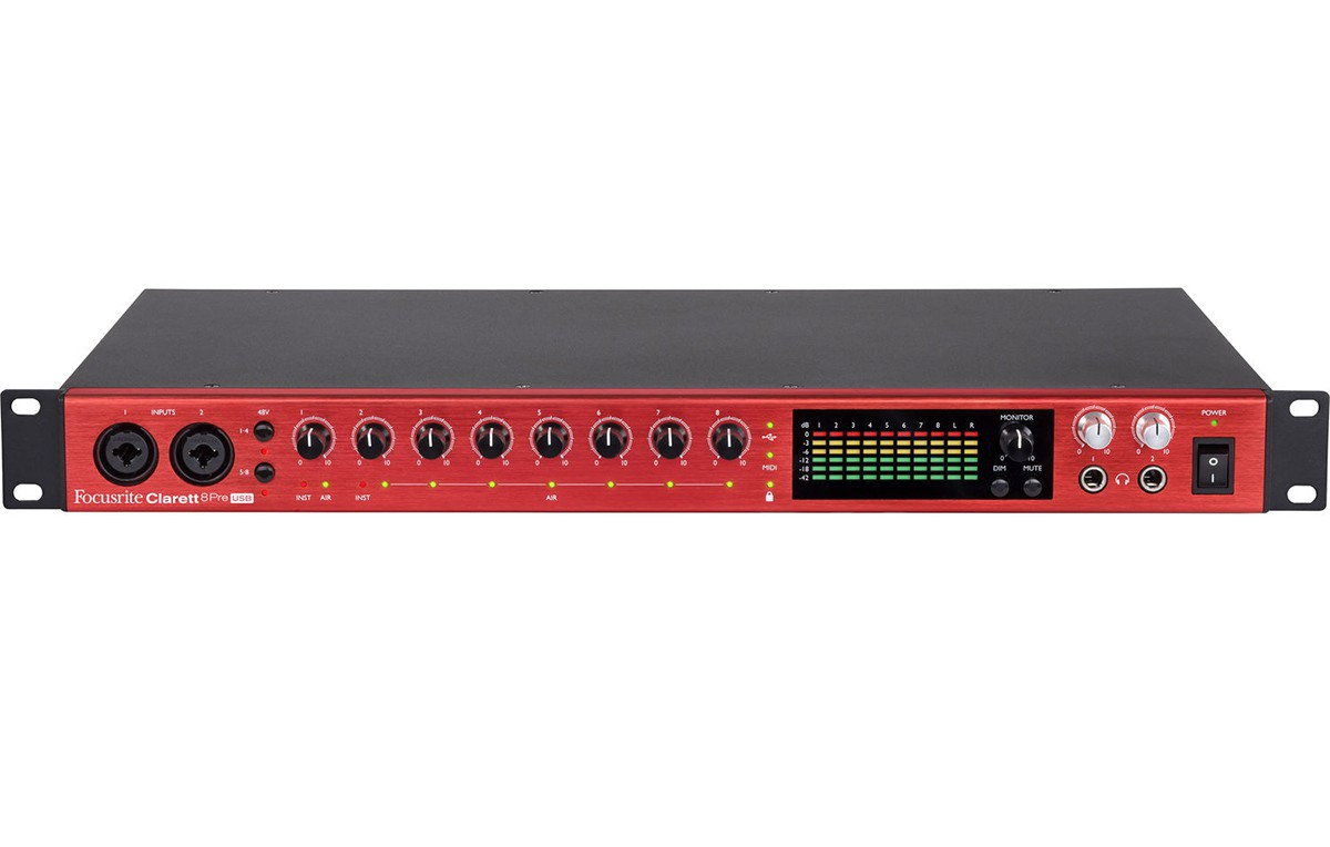 INTERFACE DE ÁUDIO USB FOCUSRITE CLARETT 8PRE