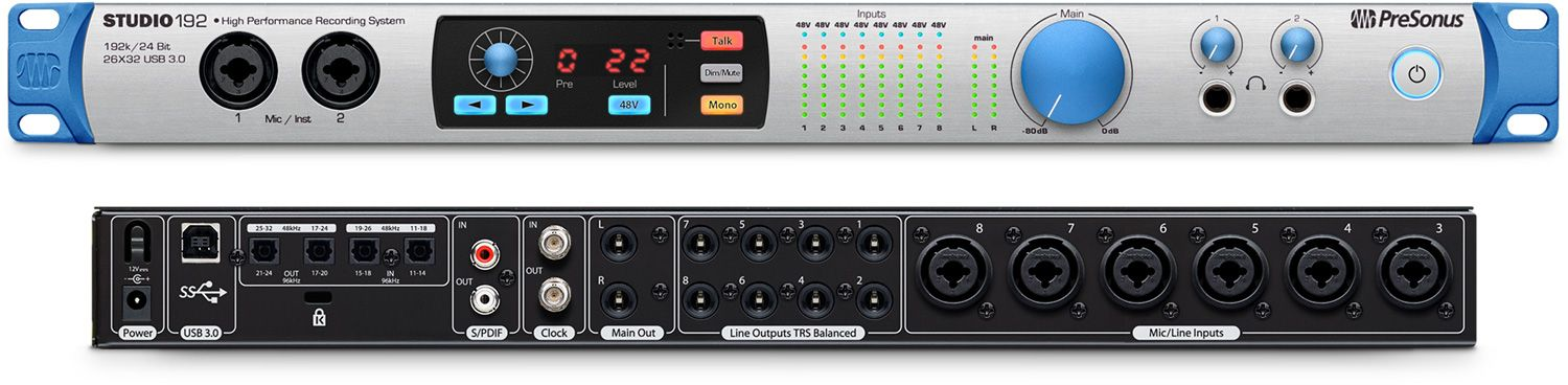 INTERFACE DE ÁUDIO USB PRESONUS STUDIO 192