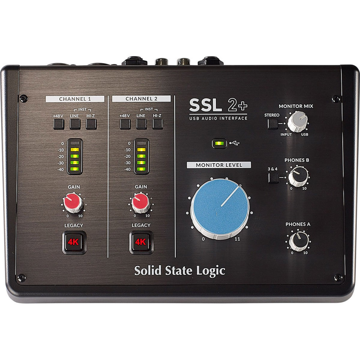 INTERFACE DE ÁUDIO USB SOLID STATE LOGIC SSL 2+