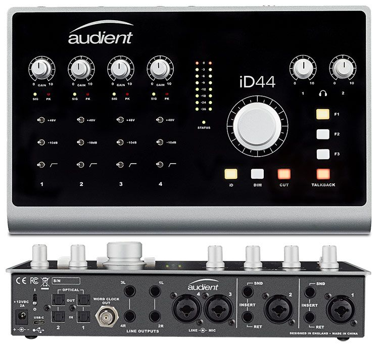 INTERFACE DE ÁUDIO USB AUDIENT ID44