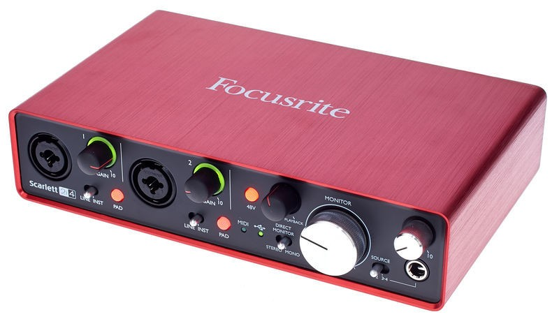 INTERFACE USB FOCUSRITE SCARLETT 2I4 SECOND GENERATION