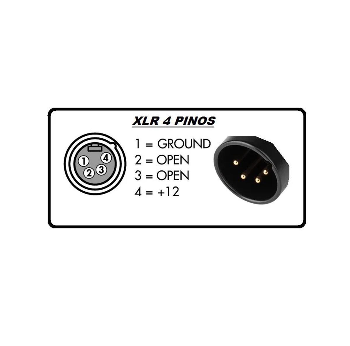 LUMINÁRIA CONECTOR XLR 4 PINOS HOSA TECHNOLOGY LTE-297XLR4