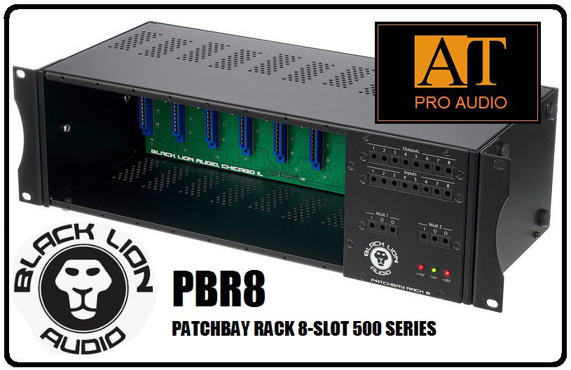 LUNCHBOX / PATCHBAY 500 SERIES BLACK LION AUDIO PBR8 8-SLOT