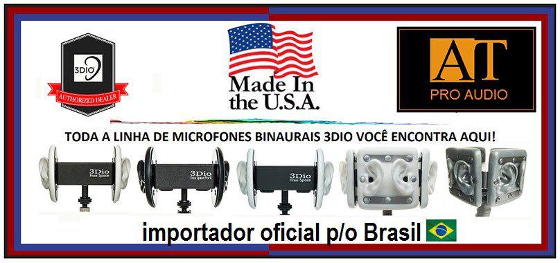 MICROFONE BINAURAL 3DIO FREE SPACE XLR