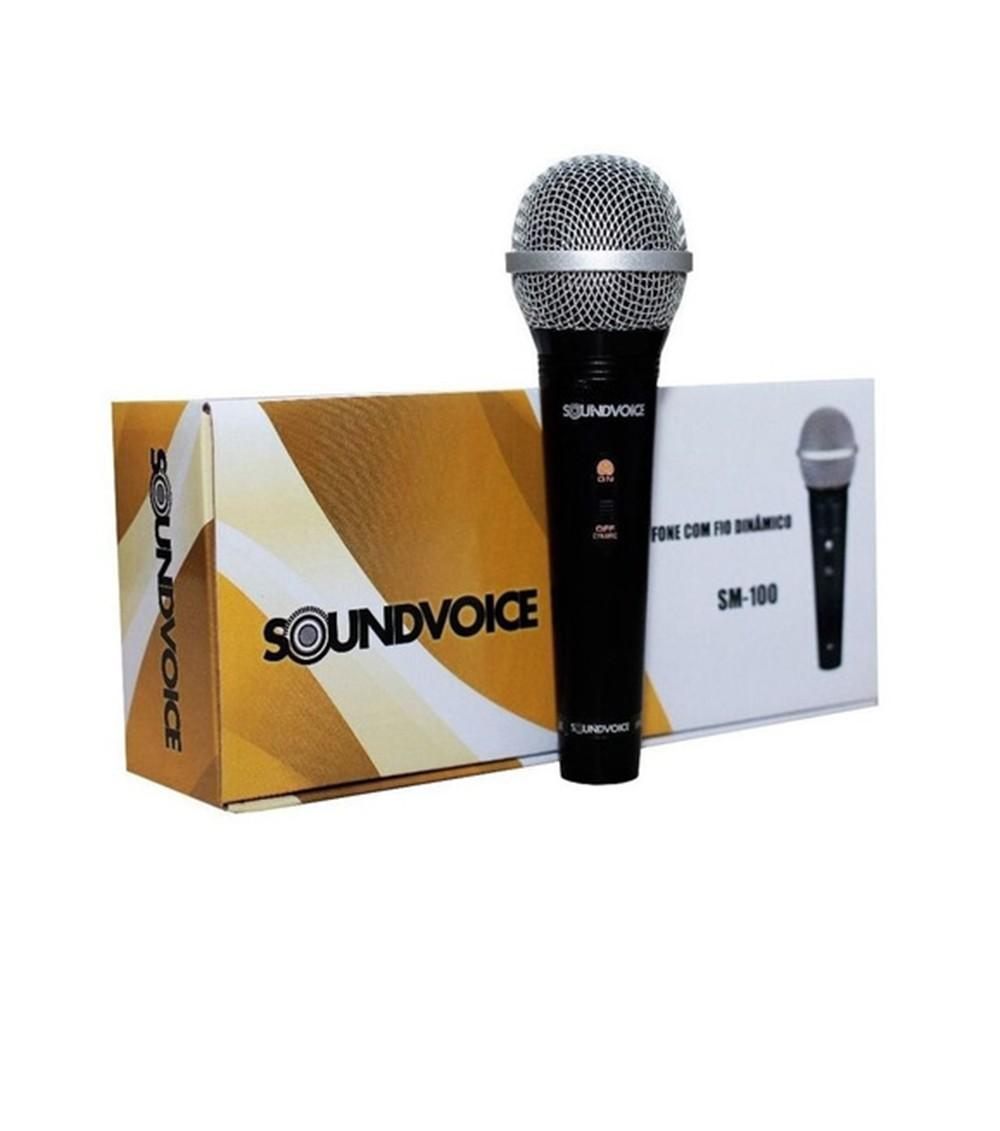 MICROFONE DINÂMICO SOUNDVOICE SM-100