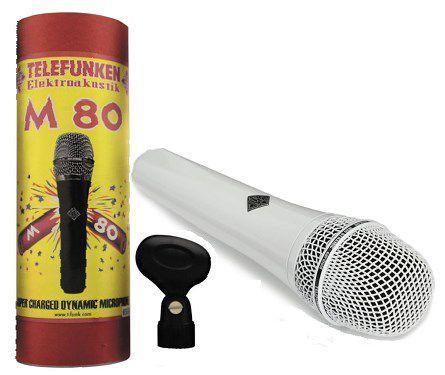 MICROFONE DINÂMICO TELEFUNKEN M80-WH