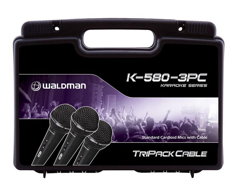MICROFONE DINÂMICO WALDMAN K-580 3-KIT