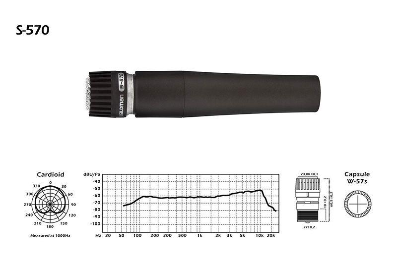 MICROFONE DINÂMICO WALDMAN S-3PM 3-KIT