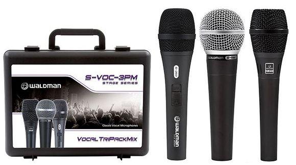 MICROFONE DINÂMICO WALDMAN S-VOC-3PM 3-KIT