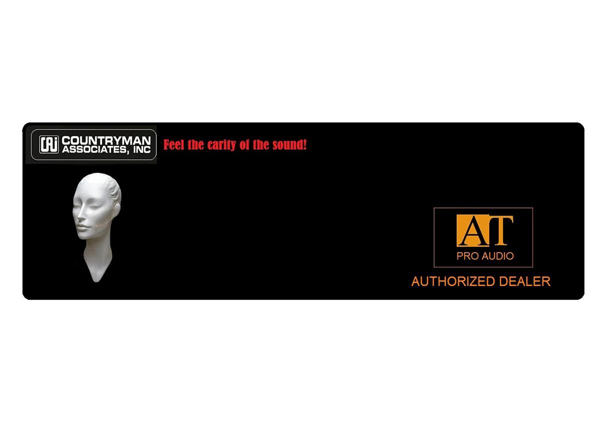 MICROFONE HEADSET COUNTRYMAN E6 EARSET +HIROSE (AUDIO-TECHNICA)