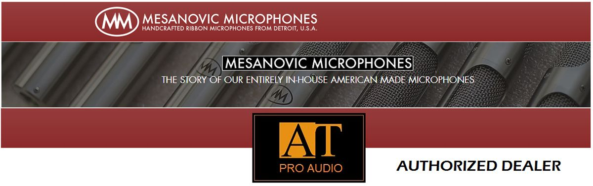 MICROFONE RIBBON ATIVO MESANOVIC MICROPHONES MODEL 2A