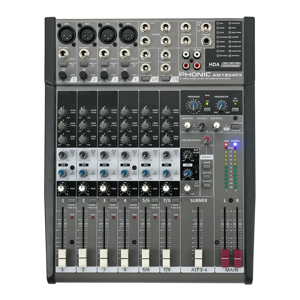MÍXER ANALÓGICO PHONIC AM1204FX