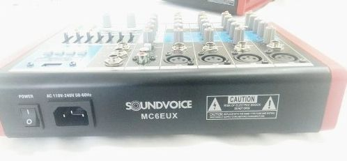 MÍXER ANALÓGICO SOUNDVOICE MC-6 EUX