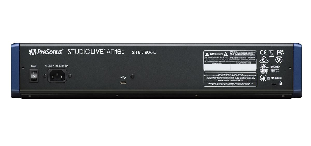 MÍXER ANALÓGICO / USB INTERFACE PRESONUS STUDIOLIVE AR16C