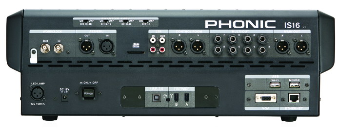 MÍXER DIGITAL PHONIC IS16