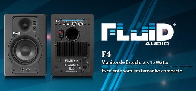 MONITOR DE ESTÚDIO ATIVO FLUID AUDIO F4