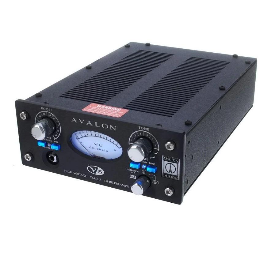 PREAMP / DI VALVULADO P/MICROFONE E INSTRUMENTOS AVALON DESIGN V5 BLACK