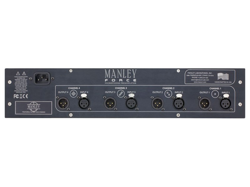 PREAMP P/MICROFONE MANLEY FORCE