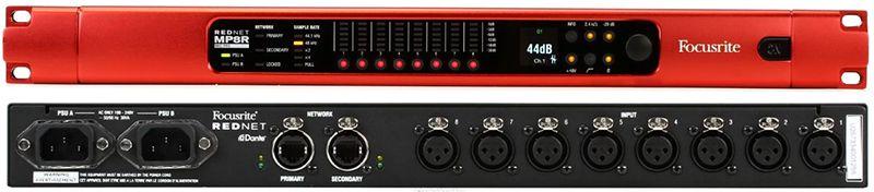 PREAMP P/MICROFONES / CONVERSOR A/D DANTE REMOTE-CONTROLLED FOCUSRITE MP8R